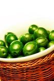 grön olivgrön Arkivfoto