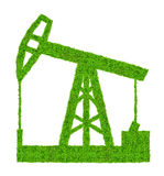 Grön olje- pump Arkivbilder