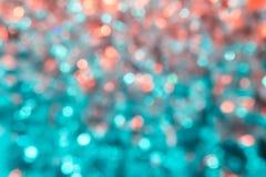 Grön orange Bokeh bakgrund Fotografering för Bildbyråer