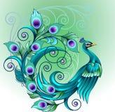 Grön påfågel Royaltyfria Foton