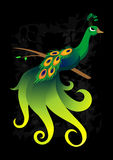 grön påfågel för firebird Arkivfoton
