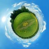 grön panorama för jordklot Fotografering för Bildbyråer