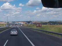 Grön panoramabakgrund i Prague arkivfoton
