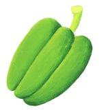 grön paprika Arkivfoton