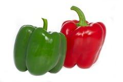 grön paprika pepprar red Arkivbilder