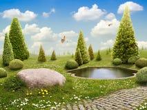 grön park royaltyfri foto