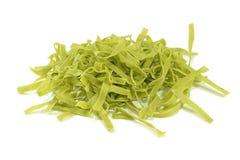 grön pasta Fotografering för Bildbyråer