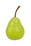 Grön pear som isoleras på vit bakgrund Royaltyfria Bilder