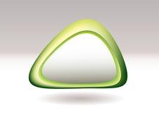 grön pebbletriangel stock illustrationer