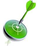 Grön pil Arkivfoto