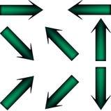 Grön pil Arkivbild