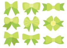 Grön pilbågedesign på vit bakgrund vektor illustrationer