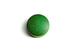 grön pill Royaltyfria Foton