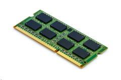 Grön pinne för DDR RAM på isolerad bakgrund Royaltyfri Fotografi