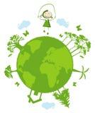 Grön planet Royaltyfri Bild