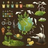 Grön planet vektor illustrationer