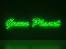 Grön planet - serieneontecken Arkivbilder