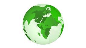 Grön planetjordsnurr som isoleras på vit bakgrund royaltyfri illustrationer