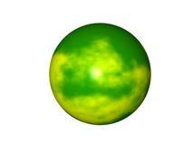 grön planetyellow stock illustrationer
