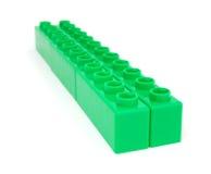 grön plast- för block Royaltyfria Bilder
