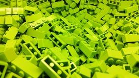 grön plast- för block Arkivfoton
