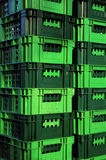 grön plast- för korg Arkivbild