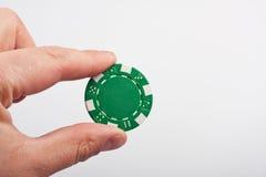 grön poker för chip Royaltyfria Foton