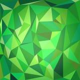 Grön polygonal bakgrund stock illustrationer