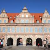 Grön port, Gdansk Royaltyfri Bild
