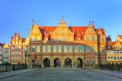 Grön port i Gdansk den formella uppehållet av monarker arkivbilder