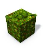 grön present för jul Royaltyfria Foton