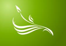 grön prydnad stock illustrationer