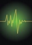 grön puls Arkivfoton