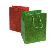 grön röd sparkling för påsar arkivfoton