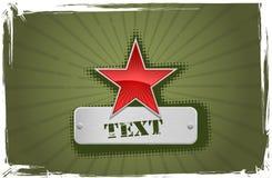 grön röd stjärnavektor för ram stock illustrationer