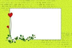 Grön ram för ett foto royaltyfria bilder