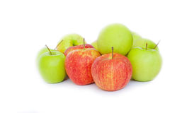 grön red för äpplen Arkivbild