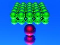 grön red för bollar Arkivbilder
