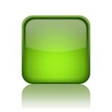 Grön rengöringsdukknapp Royaltyfri Bild