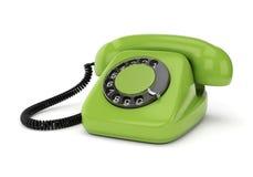 Grön retro telefon stock illustrationer
