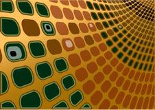grön retro vektor för guld Arkivbild