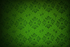 Grön retro wallpaper Royaltyfri Bild
