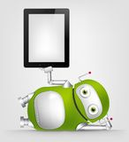Grön robot Arkivbilder