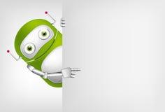 Grön robot stock illustrationer