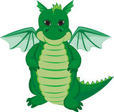 Grön rolig drake Arkivbild