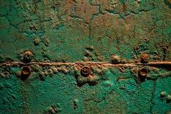 Grön rostig metall Arkivbild