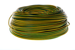 grön rullyellow för kabel royaltyfria bilder