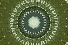 Grön rund etnisk prydnad royaltyfri illustrationer
