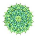 Grön rund mandala Royaltyfri Fotografi