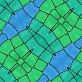 Grön sömlös garneringbakgrund Arkivbilder